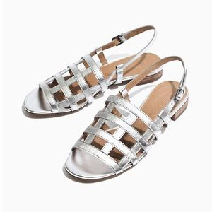 MADEWELL Rowan Cage Sandals in Silver